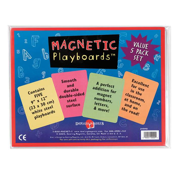Magnetic Playboards - 5-Pack By Dowling Magnets