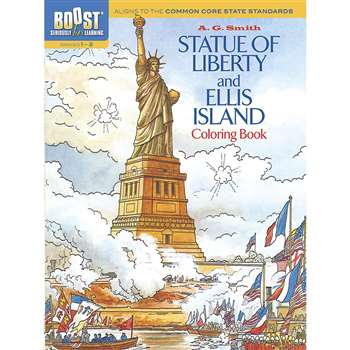 Shop Boost Statue Of Liberty And Ellis Island Coloring Book Gr 1-2 - Dp-494195 By Dover Publications