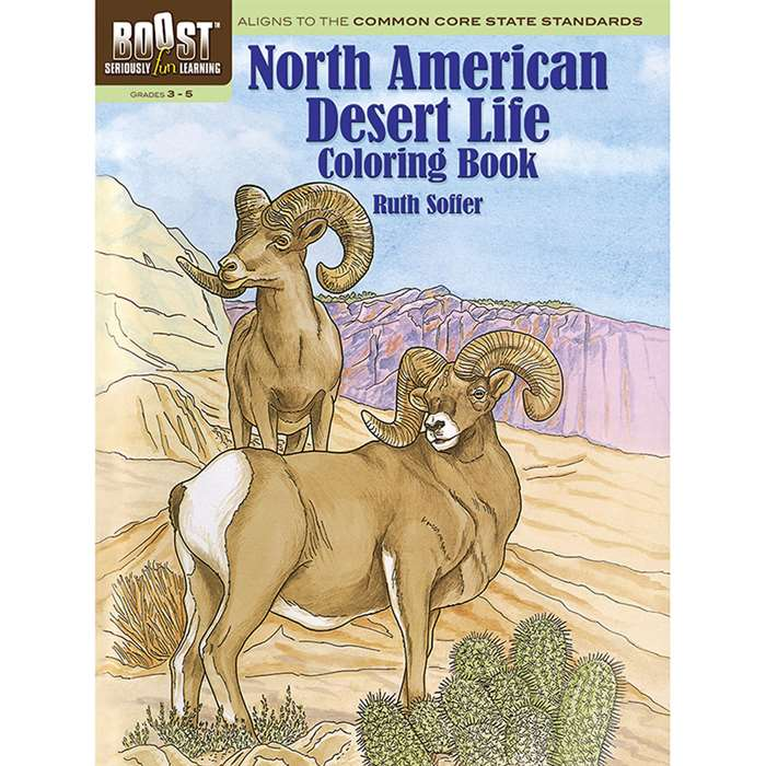 Shop Boost North American Desert Life Coloring Book - Dp-494365 By Dover Publications