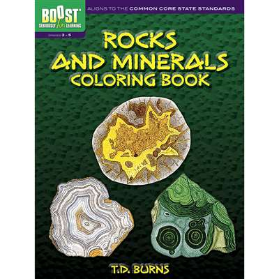 Shop Boost Rocks And Minerals Coloring Book - Dp-494373 By Dover Publications