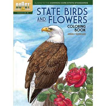 Shop Boost State Birds And Flowers Coloring Book - Dp-494381 By Dover Publications