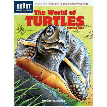 Shop Boost The World Of Turtles Coloring Book - Dp-49442X By Dover Publications