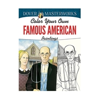 Color Your Own Famous American Tings Dover Masterw, DP-779424