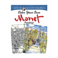 Color Your Own Monet Paintings Dover Masterworks, DP-779459