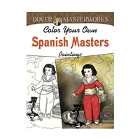 Color Your Own Spanish Masters Paintings Dover Mas, DP-779475