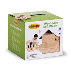 Wood Like Soft Blocks Set Of 30 By Edushape