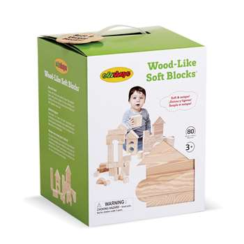Wood Like Soft Blocks Set Of 80 By Edushape