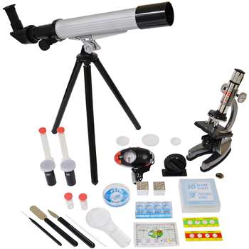 Shop Microscope & Telescope Set With Survival Kit By Elenco Electronics