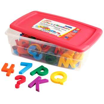 Jumbo Alpha & Mathmagnets 100 Pieces, Multicolored By Educational Insights
