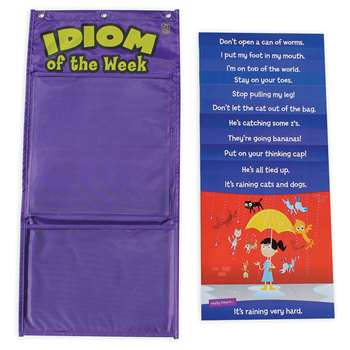 Idiom Of The Week Pocket Chart By Educational Insights