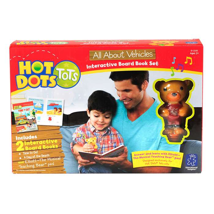Hot Dots Tots All About Vehicles Interactive Board, EI-2335