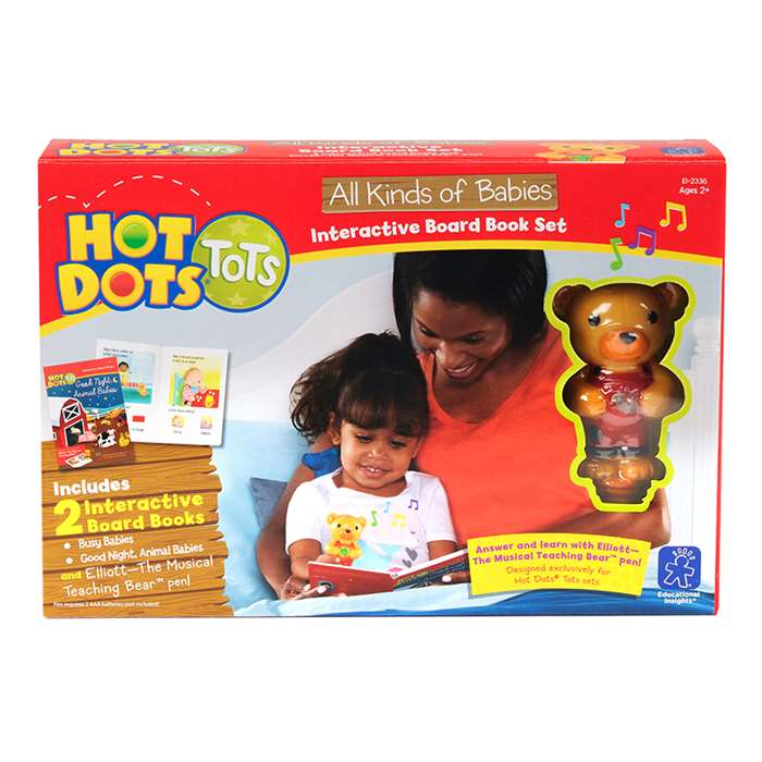 Hot Dots Tots All Kinds Of Babies Interactive Boar, EI-2336