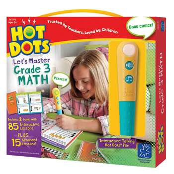 Hot Dots Jr Lets Master Math Gr 3, EI-2376