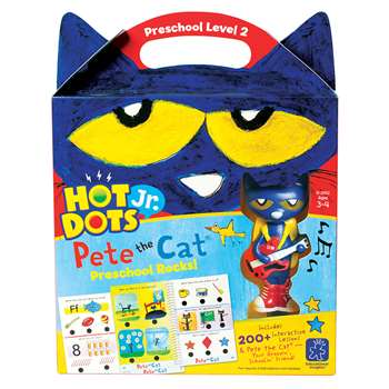 Hot Dots Jr Pete The Cat Preschool Rocks Set & Pen, EI-2452