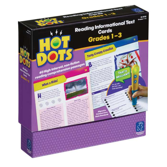 Shop Gr 1-3 Hot Dots Reading Informational Text - Ei-2520 By Educational Insights