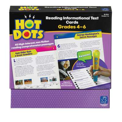 Shop Gr 4-6 Hot Dots Reading Informational Text - Ei-2521 By Educational Insights