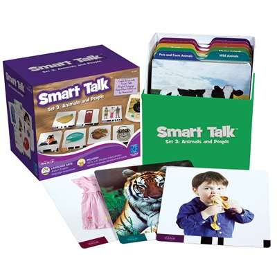 Smart Talk Card Set Set 3 Animals & People By Educational Insights