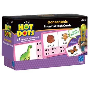 Hot Dots Phonics Program Set 2 Consonants By Educational Insights