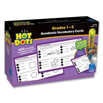 Hot Dots Academic Vocabulary Card Sets Gr 1-3 By Educational Insights