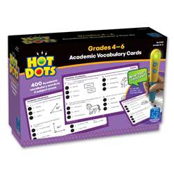 Hot Dots Academic Vocabulary Card Sets Gr 4-6 By Educational Insights