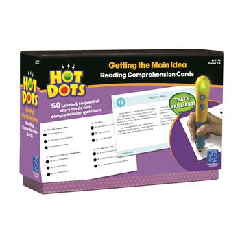 Hot Dots Reading Comprehension Kits Set 1 Getting The Main Idea By Educational Insights