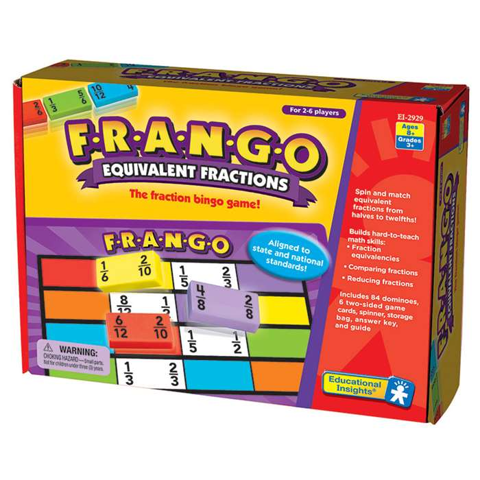 F-R-A-N-G-O Equivalent Fractions By Educational Insights