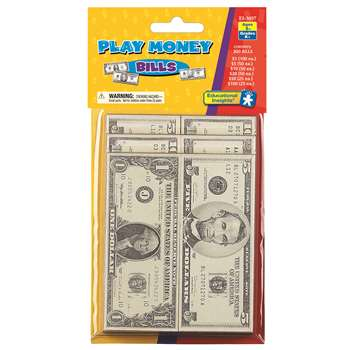 Lets Pretend Play Money - Bills By Educational Insights