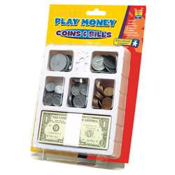 Lets Pretend Play Money Coins & Bills Tray By Educational Insights