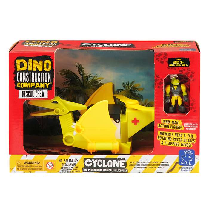 Dino Construction Co Rescue Crew Cyclone The Ptera, EI-4161