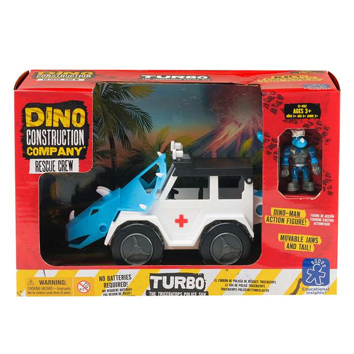 Dino Construction Co Rescue Crew Turbo The Tricera, EI-4162