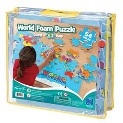 World Foam Map Puzzle By Educational Insights