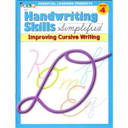 Handwriting Skills Simplified Improving Cursive By Essential Learning Products