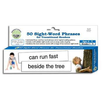 50 Sight Word Phrases For Transitional Readers, ELP133027
