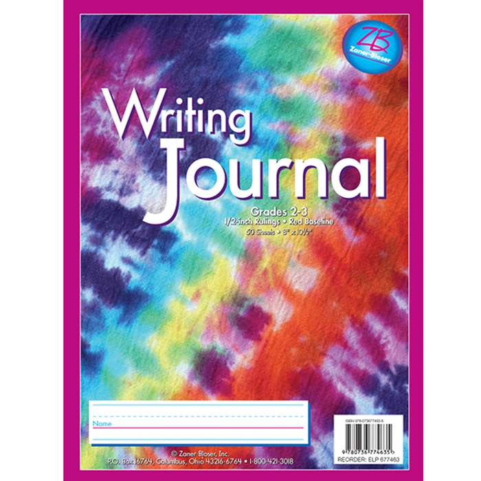 Zaner Bloser Writing Journal Gr 2-3 Tie Dye By Essential Learning Products