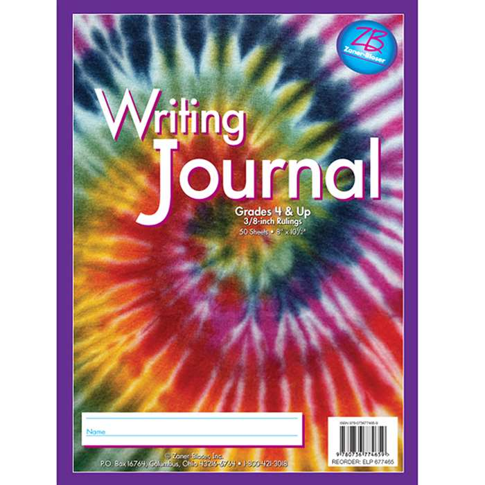 Zaner Bloser Writing Journal Gr 4 Tie Dye By Essential Learning Products