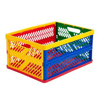 Collapsible Crates Ventilated Sides Large Multi-Colored By Early Learning Resources