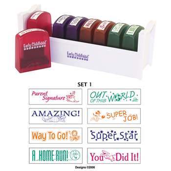 Self-Inking Teacher Stamps Set 1 By Early Learning Resources