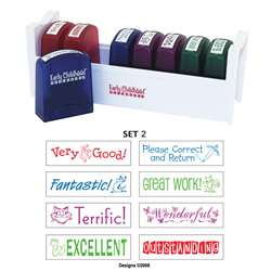 Self-Inking Teacher Stamps Set 2 By Early Learning Resources