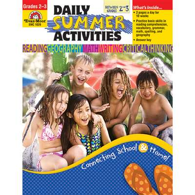 Daily Summer Activities Gr 2-3 By Evan-Moor