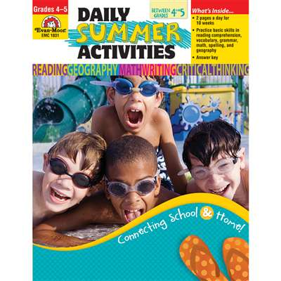 Daily Summer Activities 4Th To 5Th By Evan-Moor