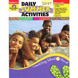 Daily Summer Activities Gr 6-7 By Evan-Moor