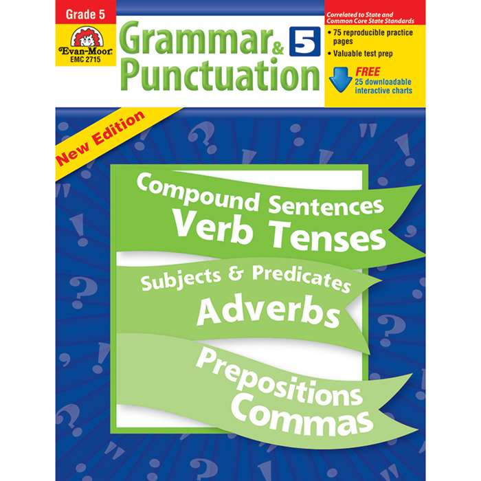Grammar & Punctuation Grade 5 By Evan-Moor