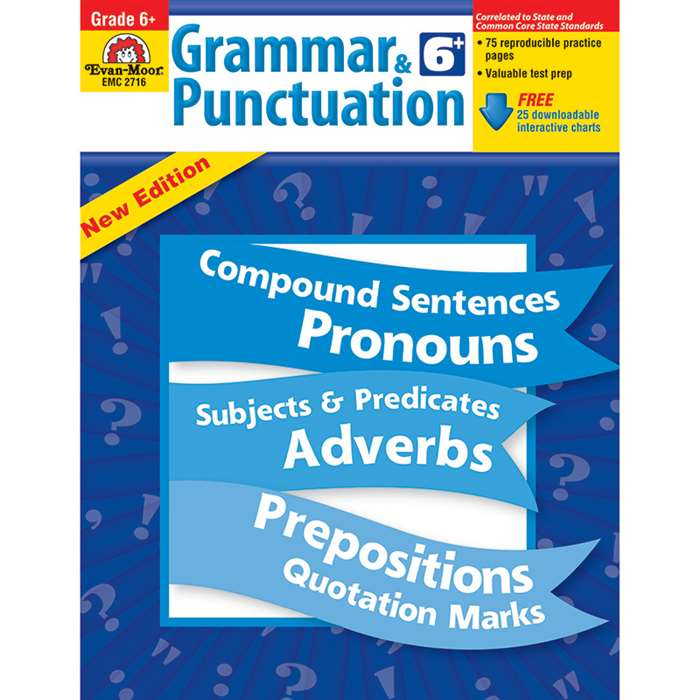 Grammar & Punctuation Grade 6 By Evan-Moor