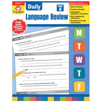 Daily Language Review Gr 8 By Evan-Moor
