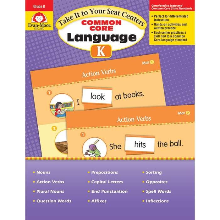 Gr K Take It To Your Seat Common Core Language Cen, EMC2870