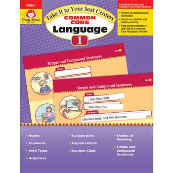 Gr 1 Take It To Your Seat Common Core Language Cen, EMC2871