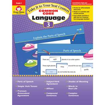 Gr 3 Take It To Your Seat Common Core Language Cen, EMC2873