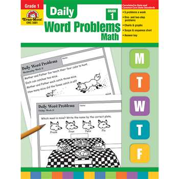 Daily Word Problems Grade 1 By Evan-Moor