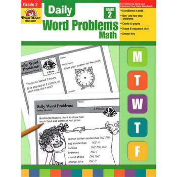 Daily Word Problems Grade 2 By Evan-Moor