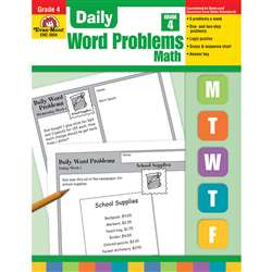 Daily Word Problems Grade 4 By Evan-Moor